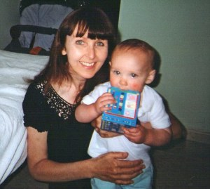 The weekend before he was killed: Lianne Smith with her son Daniel.
