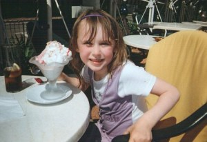 The weekend before she was killed: Lianne Smith's daughter Rebecca.